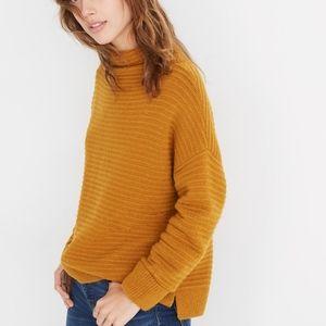 Madewell Belmont mockneck sweater in cozy yarn